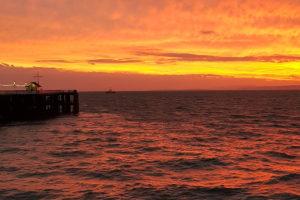 Sunrise at penarth pier